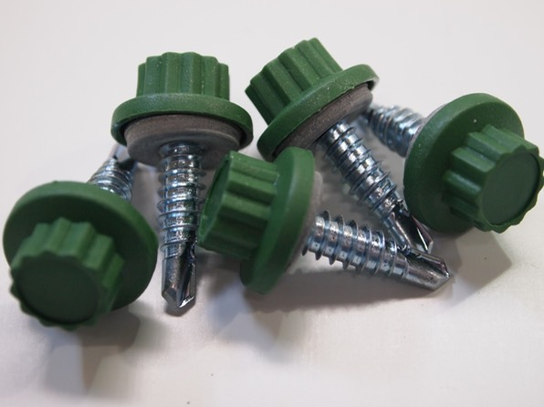 Moulded Headed Tek Screws, Nylon headed Tek Screws